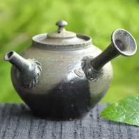 So Yamada, non-glazed wood-fired teapot 160ml, Japanese Tokonameyaki sencha gyokurocha kyusu