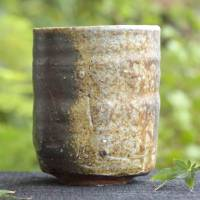 Yoshinobu Morimoto, Japanese Bizenyaki yunomi teacup 320ml, wood-fired green tea cup