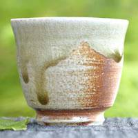 Manabu Minamide, Japanese Igayaki senchawan 100ml, small yunomi tea cup, wood-fired pottery teaware