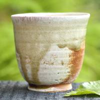 Manabu Minamide, Igayaki small yunomi, senchawan 100ml, Japanese/Chinese tea cup, wood-fired pottery