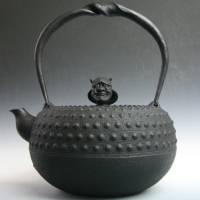 Kamasada, demon face oo arare tetsubin, authentic nanbu iron kettle  made in Morioka Japan