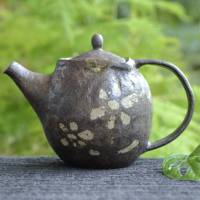 Emi Masuda, flower pattern black teapot 360ml, green tea, Chinese tea teapot, tebineri made