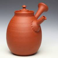 So Yamada, Tokonameyaki red-clay teapot tall type 260ml, Japanese pottery sencha kyusu