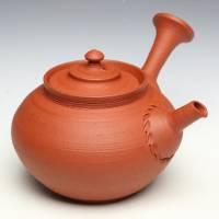 So Yamada, red-clay shudei teapot 160ml, sencha gyokurocha chinese tea kyusu