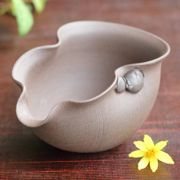Seiji Itoh, Jinshu, hyotan shape yuzamashi 200ml,  Tokoname pottery water cooler, tea server