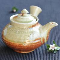 Kenji Kojima, Igayaki kyusu 470ml, nonglazed anagama wood-fired teapot, green tea teapot, wood box