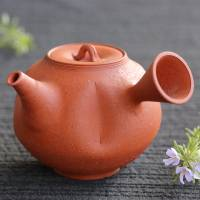 Yohei Konishi, shudei nanban kyusu 330ml, Tokonameyaki red clay teapot for sencha green tea